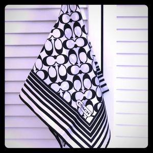 Authentic COACH signature silk scarf